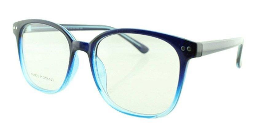 Armação para Óculos de Grau Unissex 23 Azul Degradê
