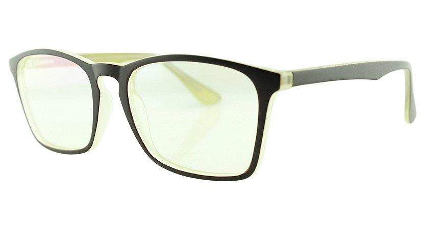 8d0ee6442 Armação para Óculos de Grau Masculino TSH7052 Marrom e Amarela ...