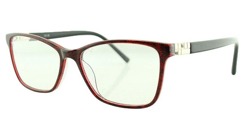 Armação para Óculos de Grau Feminino MB3388 Preta e Bordô