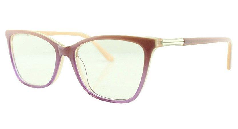 562f52f5f Armação para Óculos de Grau Feminino MB2306 Lilás e Rosa - Atacado ...