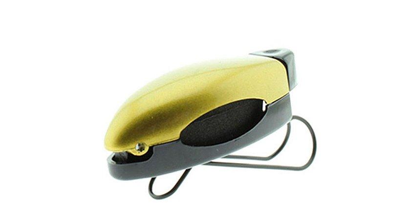 Porta Óculos Veicular para Quebra Sol Clip Car P108 Dourado - Unidade