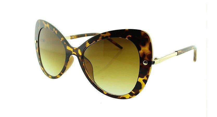 Óculos Solar Feminino VC3034 Marrom Onça