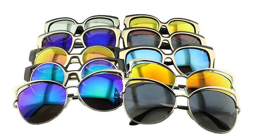 Kit Óculos Solar Sortidos 11 com 10 Peças