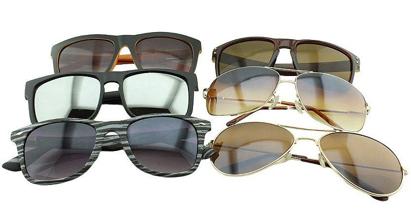 Kit Óculos Solar Sortidos 13 com 6 Peças