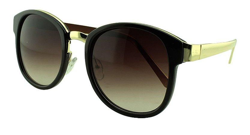 Óculos Solar Feminino Primeira Linha S965 Preto Degradê