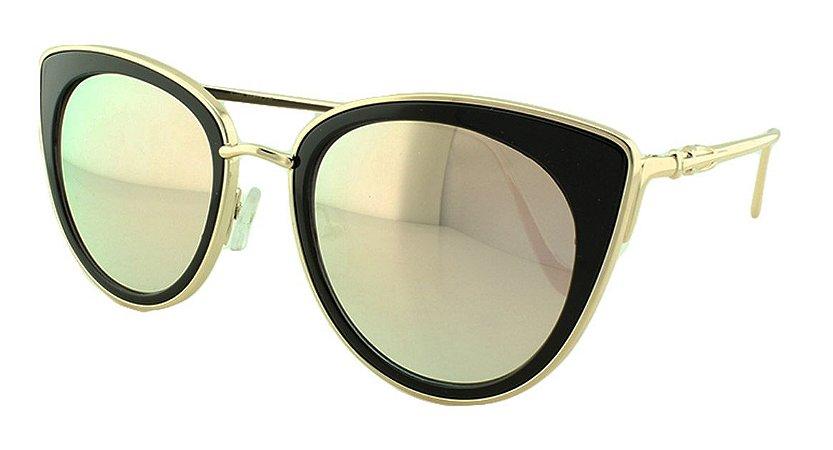 Óculos Solar Feminino Primeira Linha S1870 Rosa Espelhado