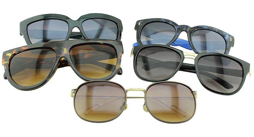Kit Óculos Solar Sortidos 24 com 5 Peças