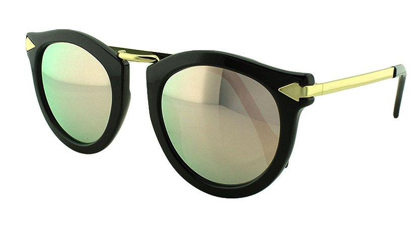 Óculos Solar Feminino Primeira Linha K129 Rosa Espelhado