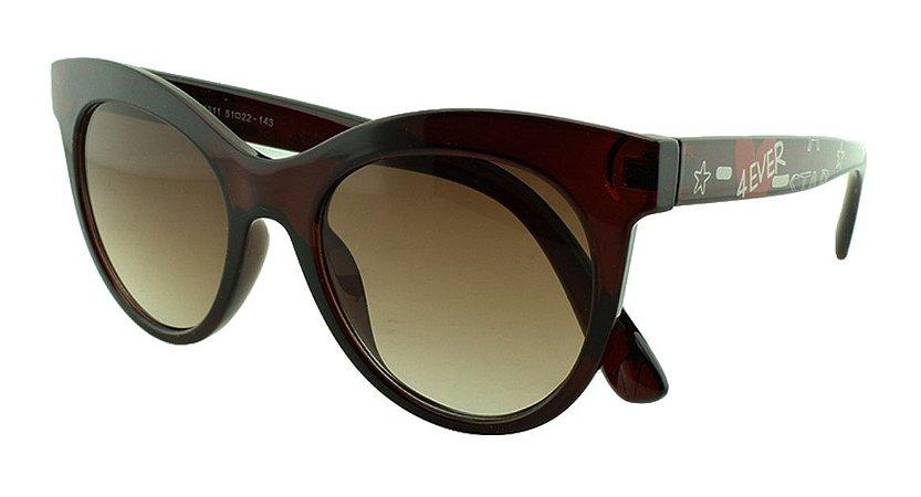 Óculos Solar Feminino Primeira Linha 4311 Marrom Degradê
