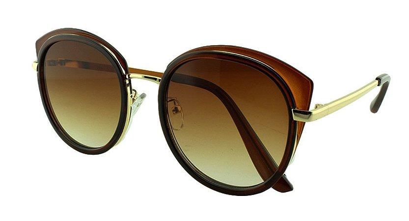 Óculos Solar Feminino Primeira Linha 2641 Marrom Degradê