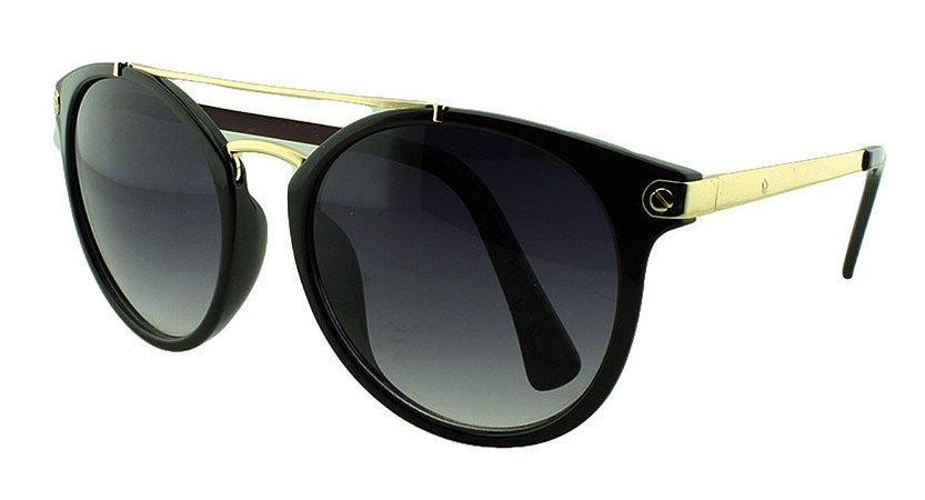 Óculos Solar Feminino Primeira Linha S1819 Preto Degradê