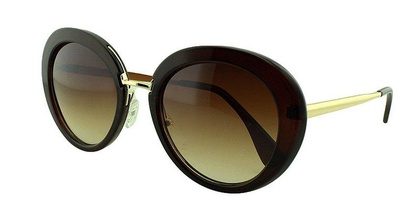 Óculos Solar Feminino Primeira Linha K811 Marrom Degradê