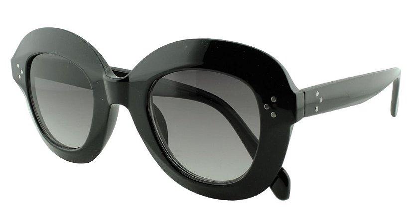 Óculos Solar Feminino Primeira Linha 1742 Preto Degradê