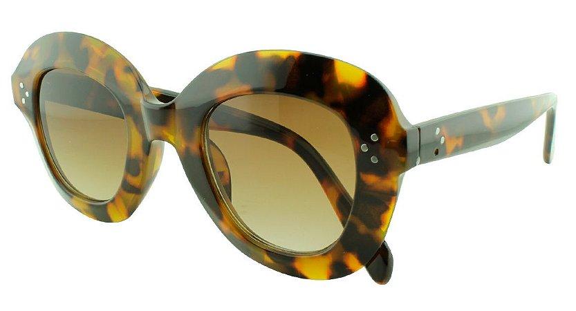 Óculos Solar Feminino Primeira Linha 1742 Marrom Onça