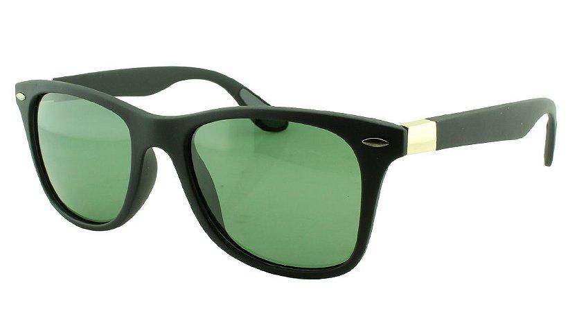 Óculos Solar Unissex Primeira Linha Polarizado 18002AZ Preto e Verde