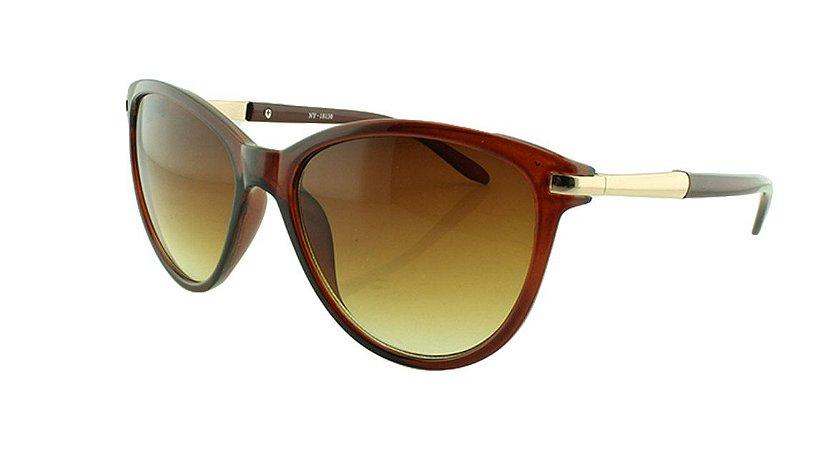 Óculos Solar Feminino NY18130 Marrom Degradê