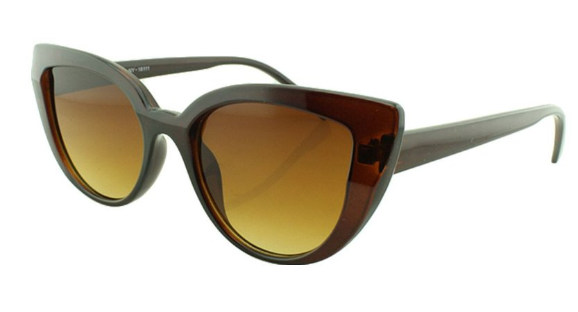 Óculos Solar Feminino NY18111 Marrom Degradê
