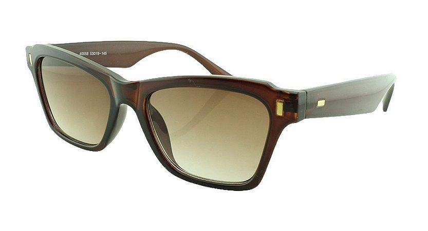 Óculos Solar Feminino Primeira Linha 40058S Marrom Degradê