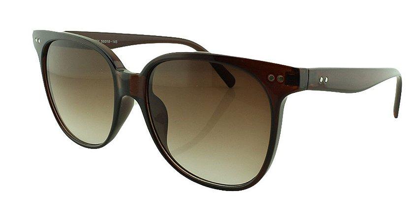 Óculos Solar Feminino Primeira Linha 400221 Marrom Degradê