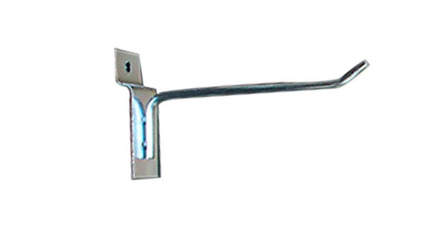 Gancho Expositor para Painel Canaletado 10cm Zincado GP10 - Unidade