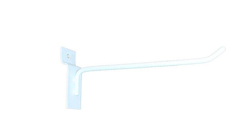 Gancho Expositor para Painel Canaletado 15cm Branco GP15B – Unidade
