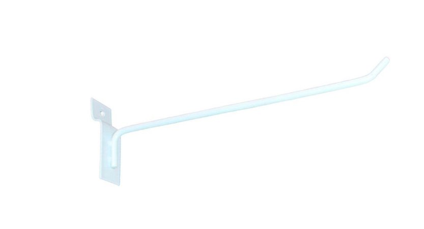 Gancho Expositor para Painel Canaletado 20cm Branco GP20B – Unidade