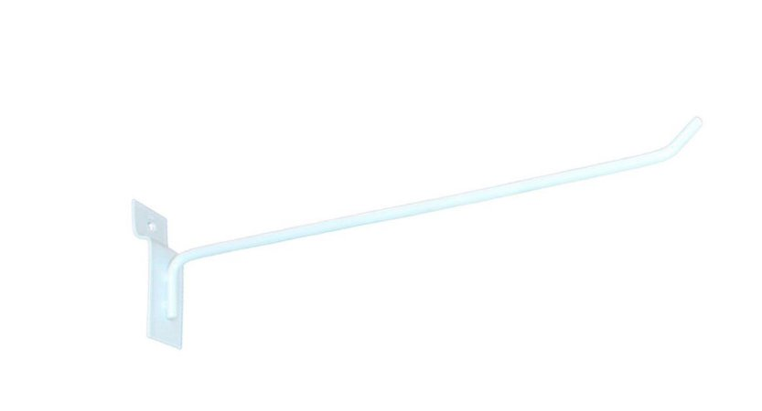 Gancho Expositor para Painel Canaletado 25cm Branco GP25B – Unidade