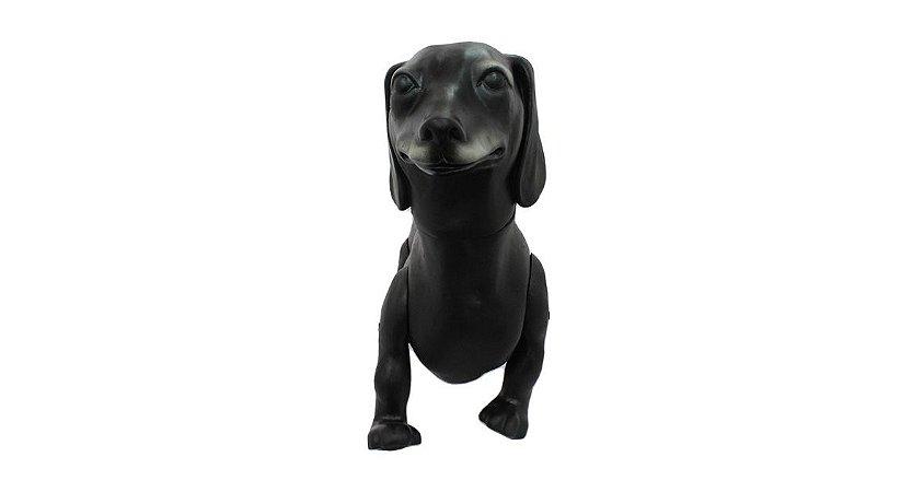 Manequim de Cachorro Dachshund - Salsicha Preto para Pet Shop 143