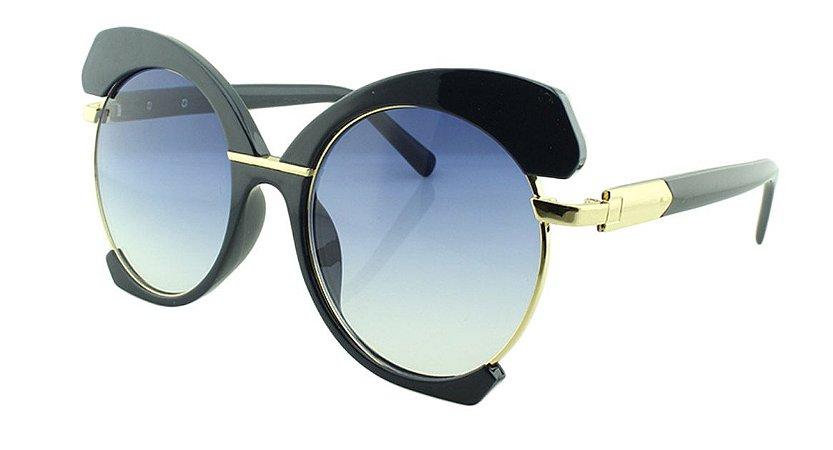 Óculos Solar Feminino E8050 Azul Degradê