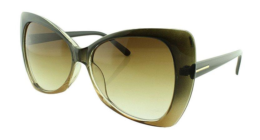 Óculos Solar Feminino E12030 Marrom Degradê