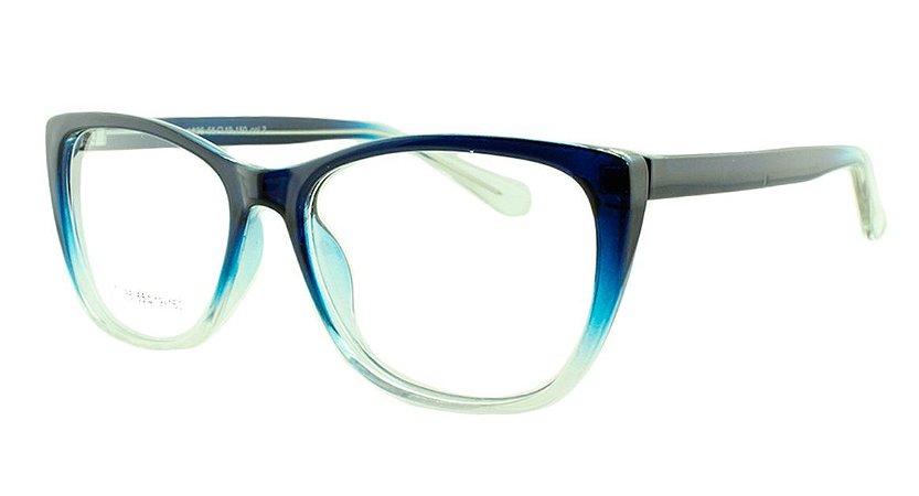 Armação para Óculos de Grau Feminino 36 Azul e Transparente