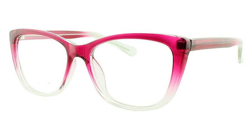 Armação para Óculos de Grau Feminino 35 Rosa e Transparente