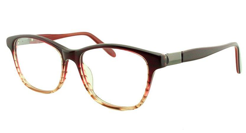 Armação para Óculos de Grau Feminino 8826 Vinho Degradê