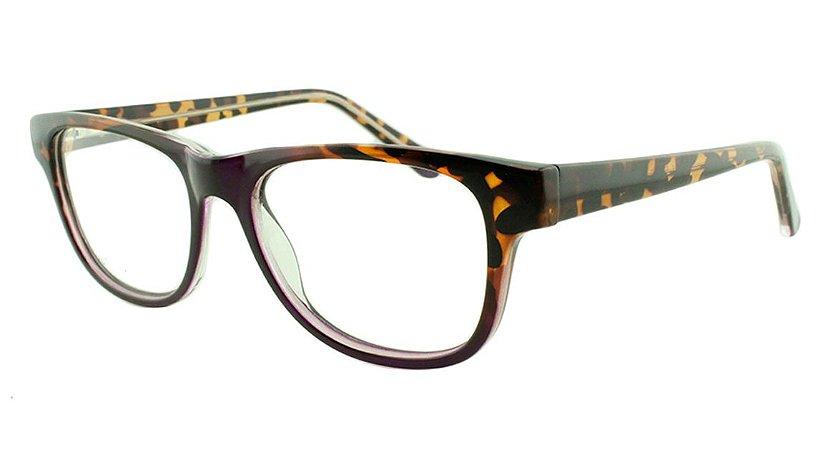 Armação para Óculos de Grau Feminino VC5205 Marrom Onça e Roxa