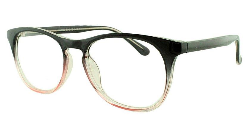 Armação para Óculos de Grau Feminino 22 Preta e Rosa