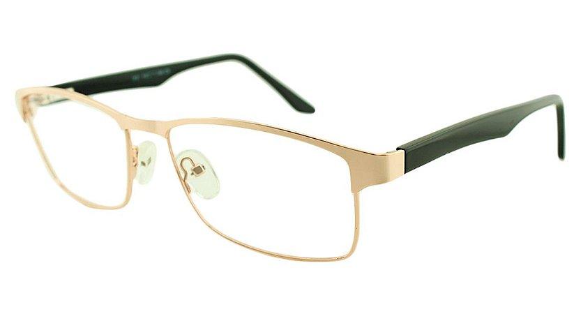 Armação para Óculos de Grau Masculino H31 Dourada