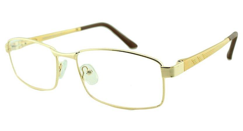 Armação para Óculos de Grau Masculino M2002 Dourada