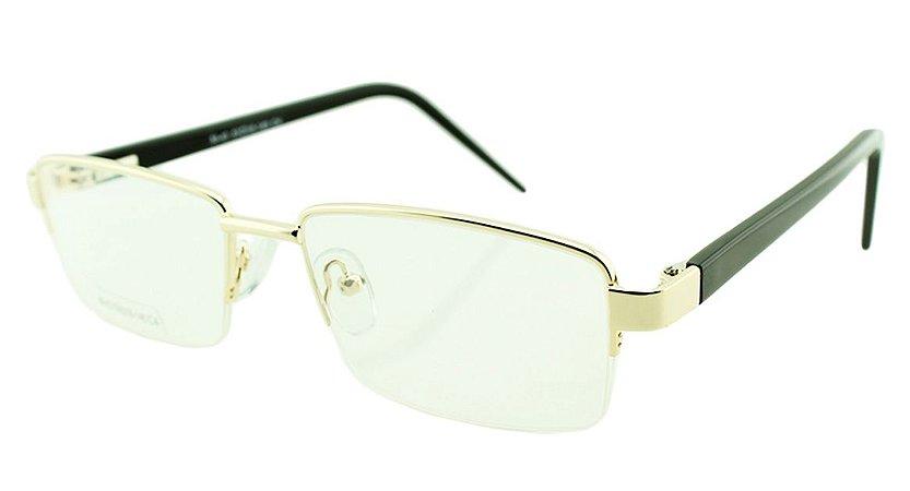 Armação para Óculos de Grau Masculino M43 Dourada