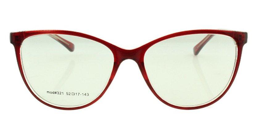 Armação para Óculos de Grau Feminino 321A Vermelha