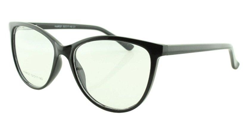 Armação para Óculos de Grau Feminino 321A Preta