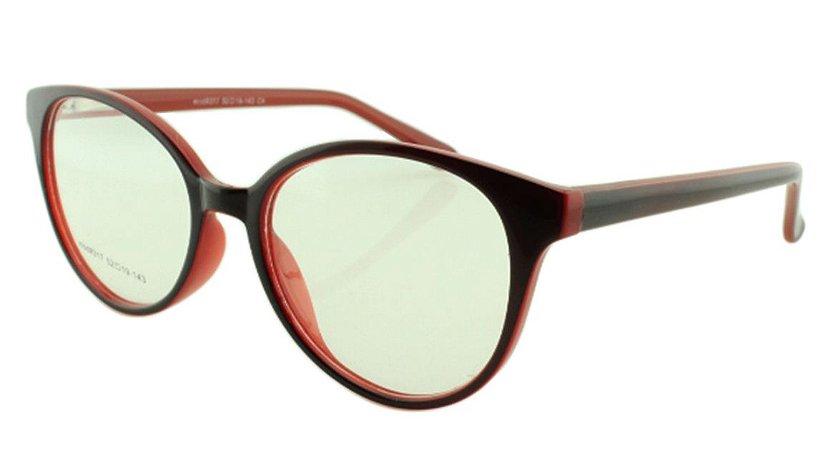 Armação para Óculos de Grau Feminino 317 Preta e Vermelha