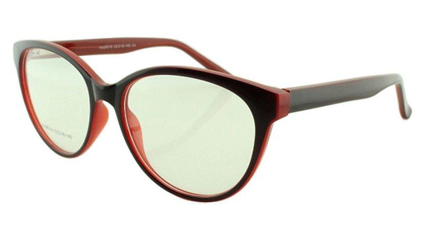 Armação para Óculos de Grau Feminino 316 Preta e Vermelha