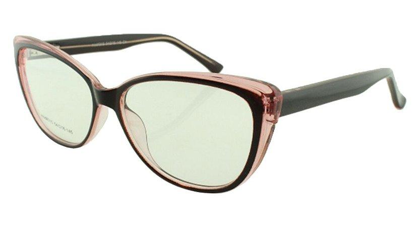 Armação para Óculos de Grau Feminino 315A Preta e Rosa