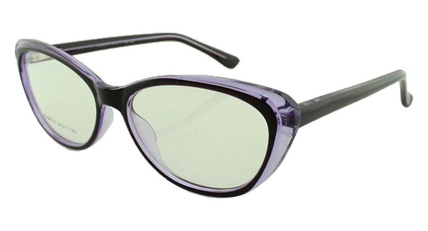 Armação para Óculos de Grau Feminino 314A Preta e Roxa