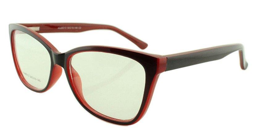 Armação para Óculos de Grau Feminino 313 Preta e Vermelha