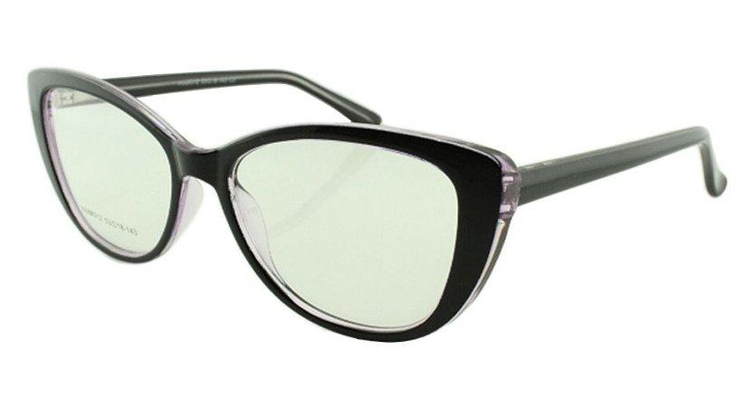 Armação para Óculos de Grau Feminino 312A Preta e Lilás