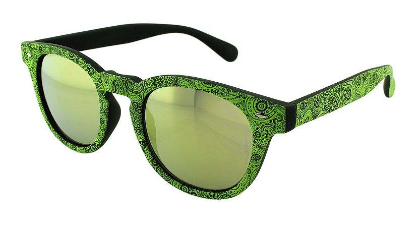 Óculos Solar Unissex NY9117 Verde Claro Espelhado