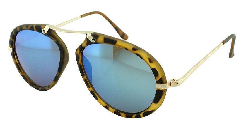 Óculos Solar Feminino Sortido NY9071 Azul Espelhado