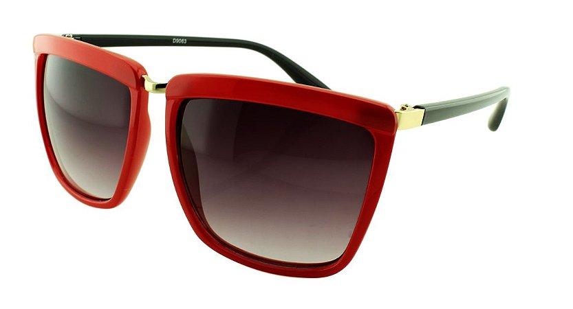 Óculos Solar Feminino Sortido D9063 Vermelho e Preto