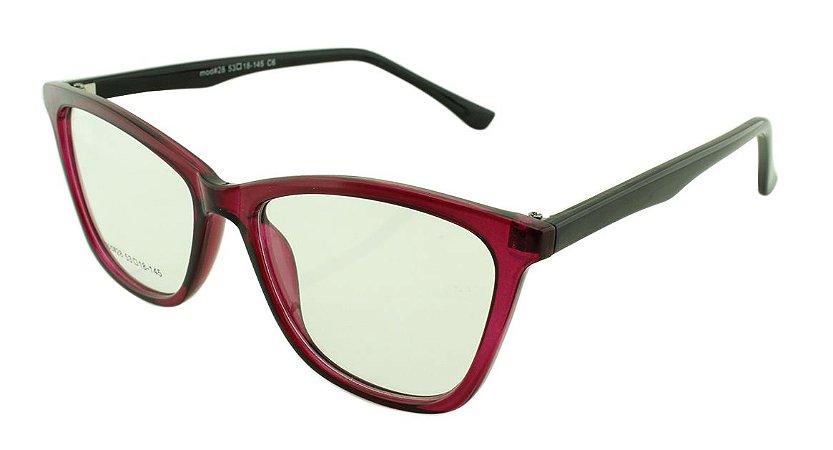 Armação para Óculos de Grau Feminino 28 Rosa e Preta